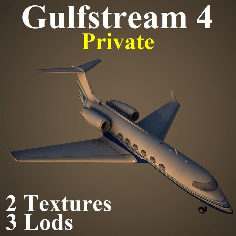 3d model of gulfstream 4 pv3