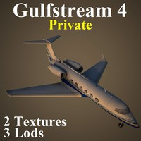 3d model of gulfstream 4 pv3