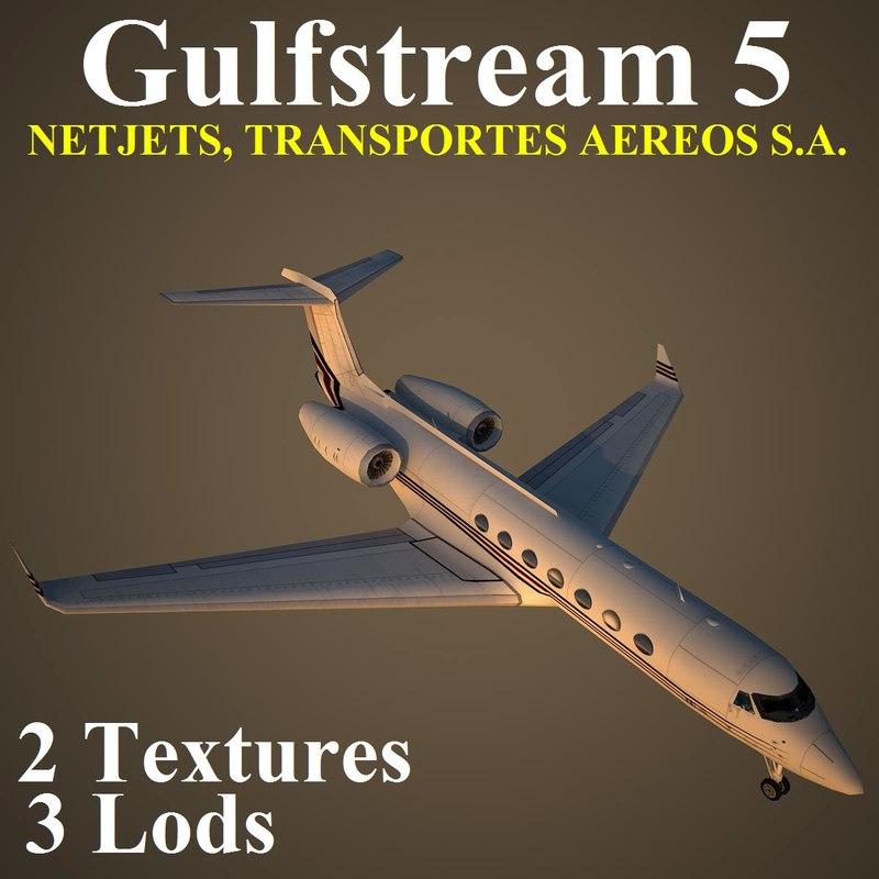 gulfstream 5 nje 3d model