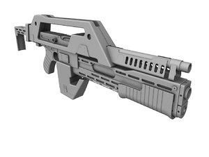 3d m41a pulse rifle model