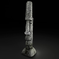 Tall Rock Statuette