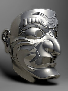japanese mask 3d max