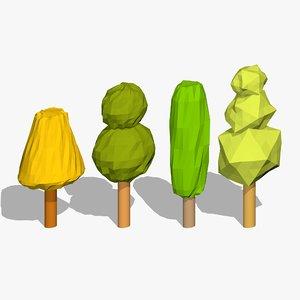 cartoon trees 3ds