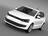 3d model volkswagen polo gt 2013
