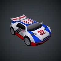 vehicle car toon speed obj