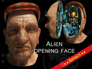 alien face men black max