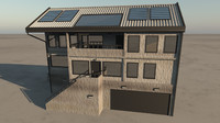 townhouse house 3d obj