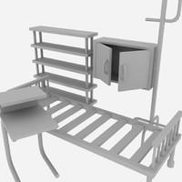 3d model hospital equipments