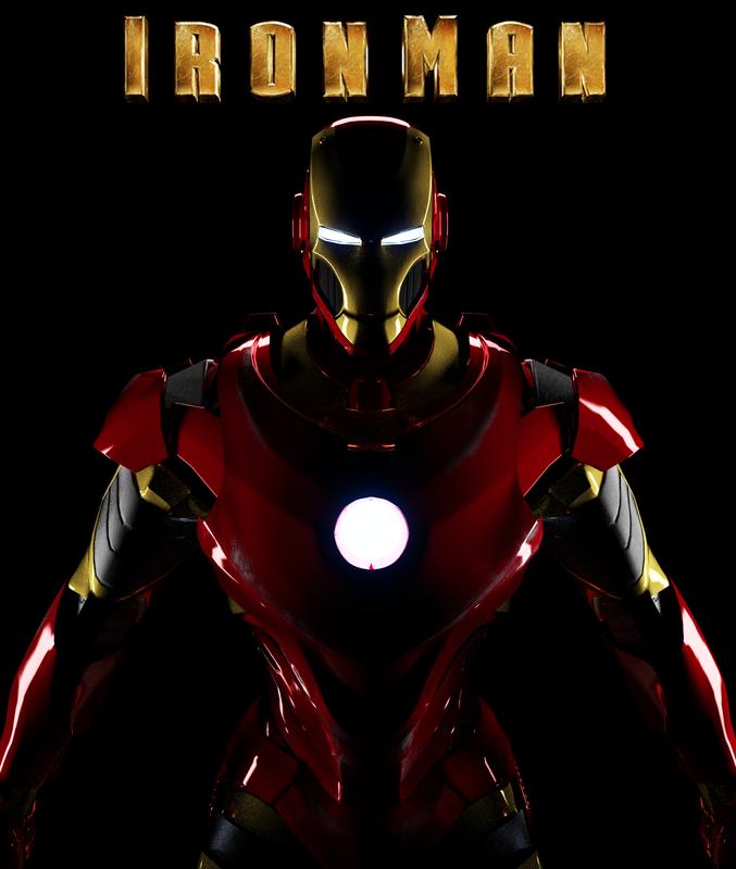3d model iron man suit