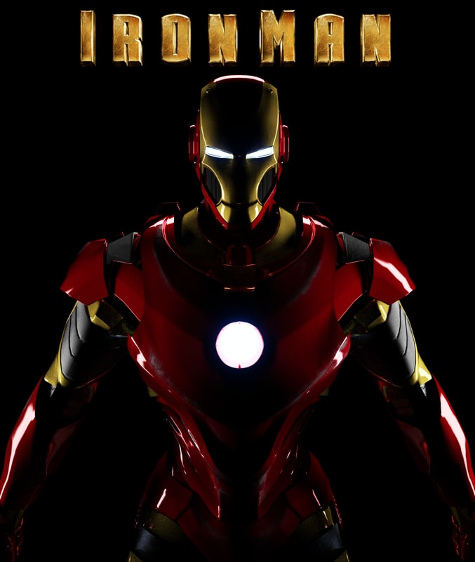 3d model iron man suit