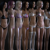 7 1 female body 3d model