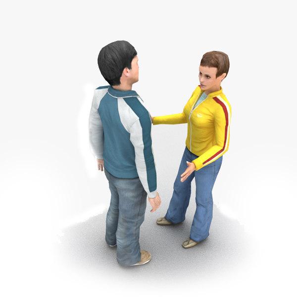 3d model talking humans animation