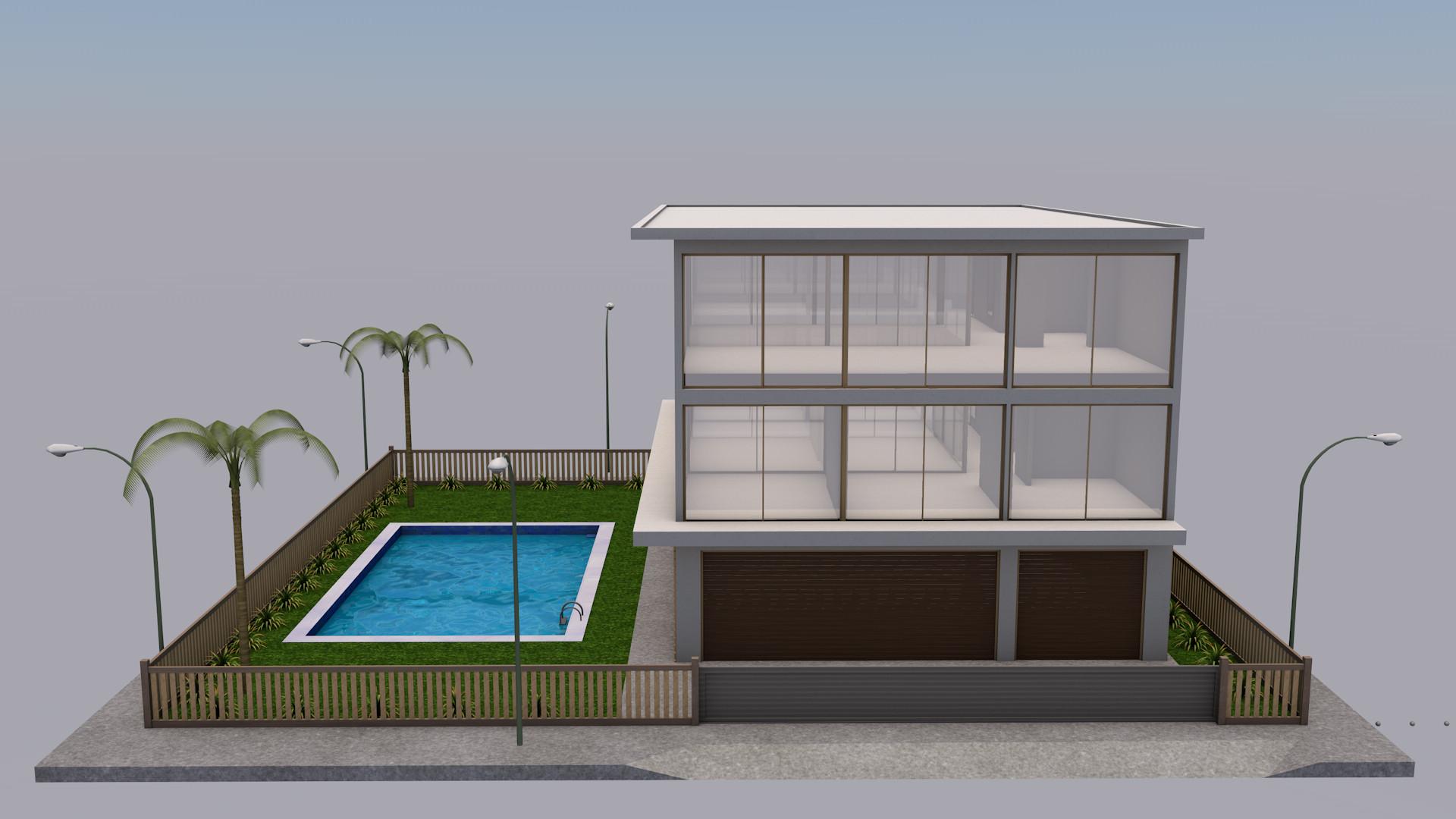 luxury modern house c4d
