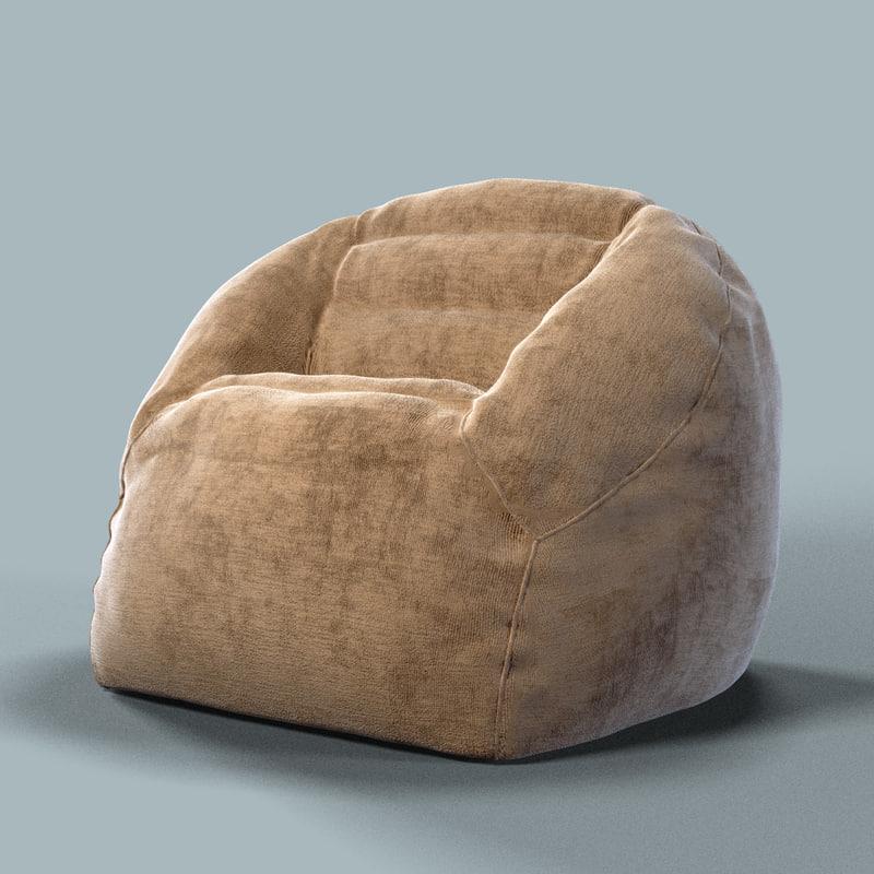 armchair bag chair 3d model