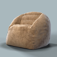 armchair bag chair 3d model