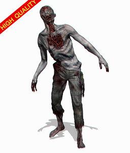 zombie zbrush movie 3d obj