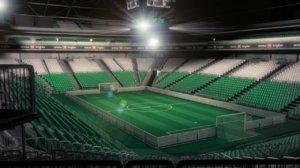 3d model soccer stadium arena