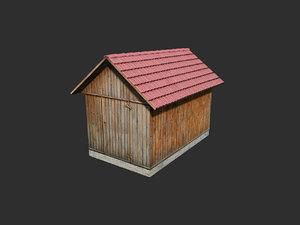 3d storage shed model