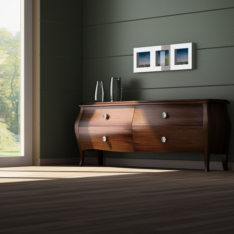 furniture wood 3d model