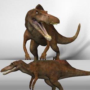 spinosaurus dinosaurs 3d model