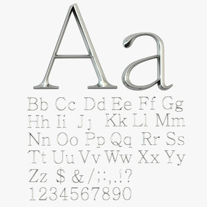 english letters 3d max