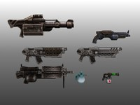 Lowpoly Gun Pack
