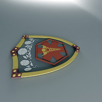 3d model shield tiara
