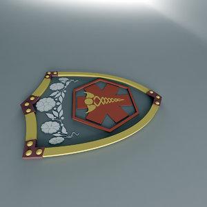 3d model shield tiara