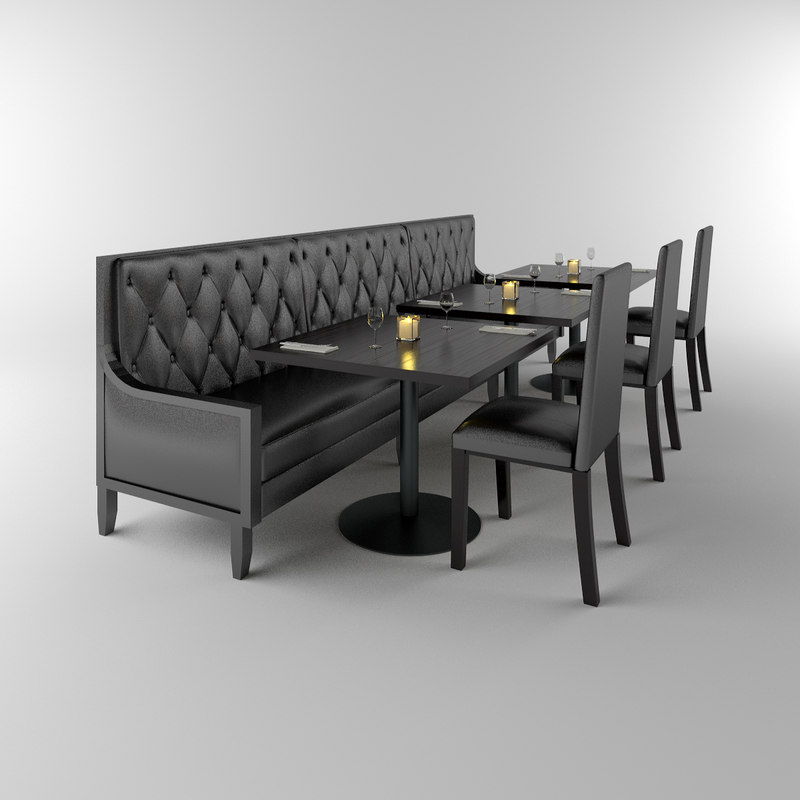 restaurant banquette tables chairs max. Black Bedroom Furniture Sets. Home Design Ideas