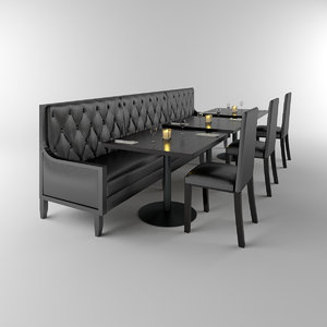 restaurant banquette tables chairs max