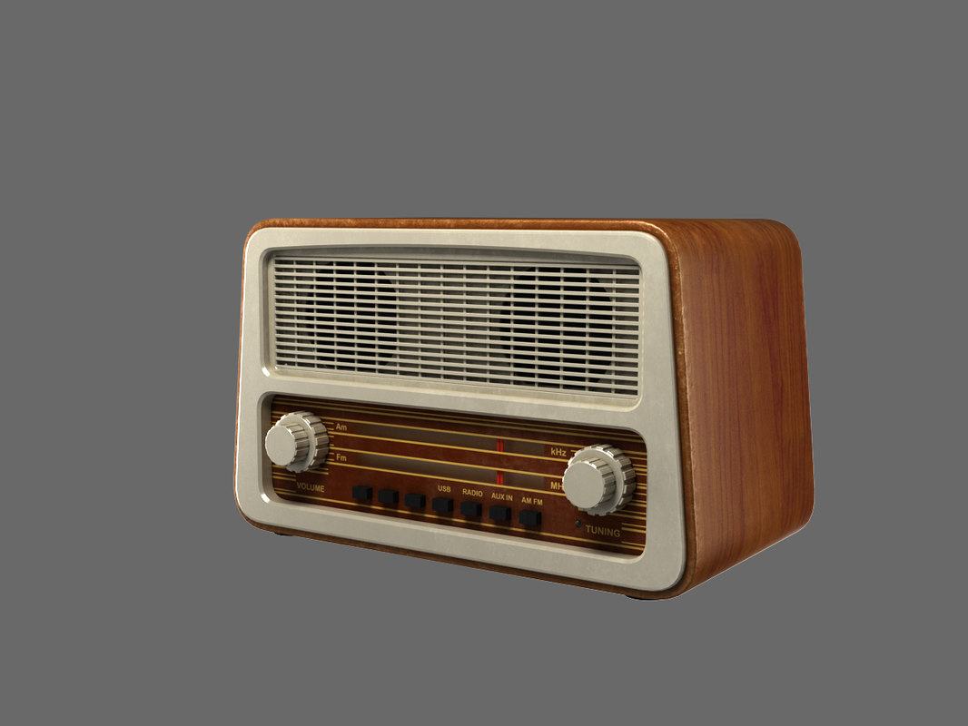 old style radio 3d max