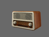 old style radio 3d max