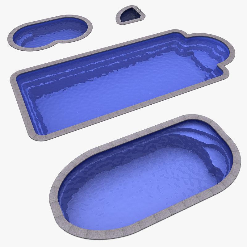 4 plastic pools 3ds