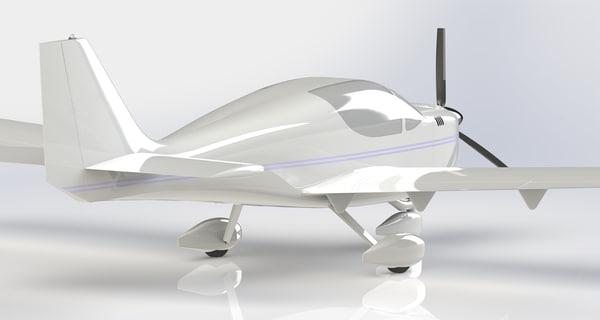 europa xs trigear aircraft 3d model