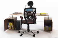 Office Desk & Chair with Props