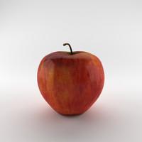 3d obj apple