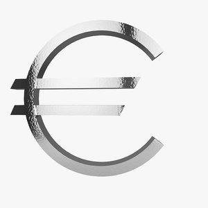 3d simbol euro model