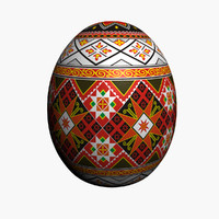 3d model of easter egg