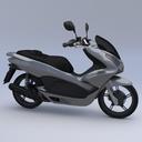 obj scooter motorbike