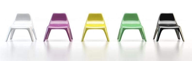 3d ikea vago chairs lounge model