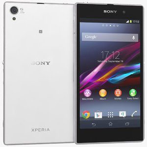 sony xperia z1 white 3d model