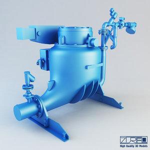 ash vessel pn pump 3d max