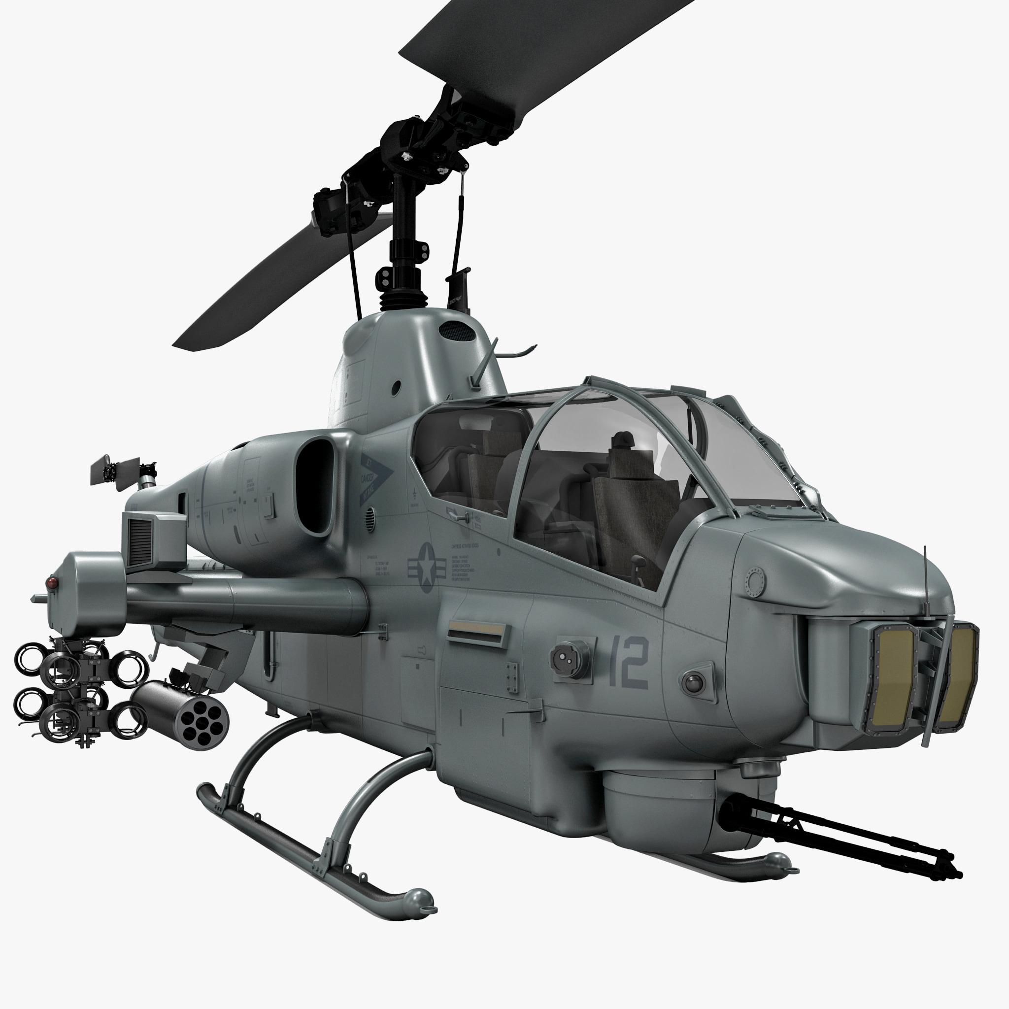 3d model of bell ah-1 supercobra