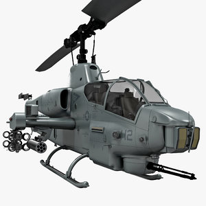 3d model of bell ah-1 supercobra