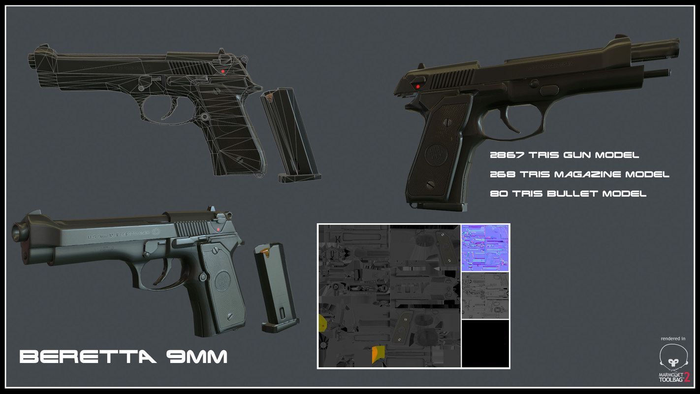 3d beretta m9