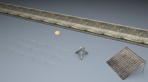 berlin wall trap elements 3d model