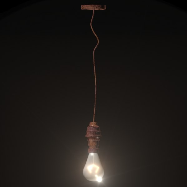 Realistic Hanging Ceiling Light Model