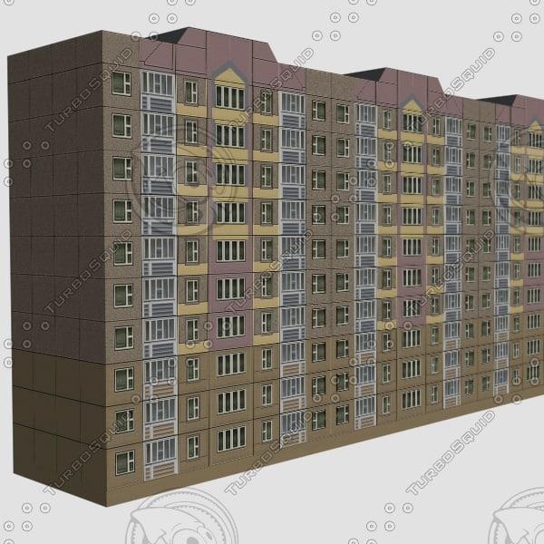 3d model of apartments building