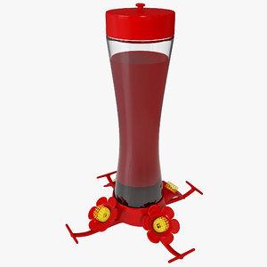 3d hummingbird feeder model