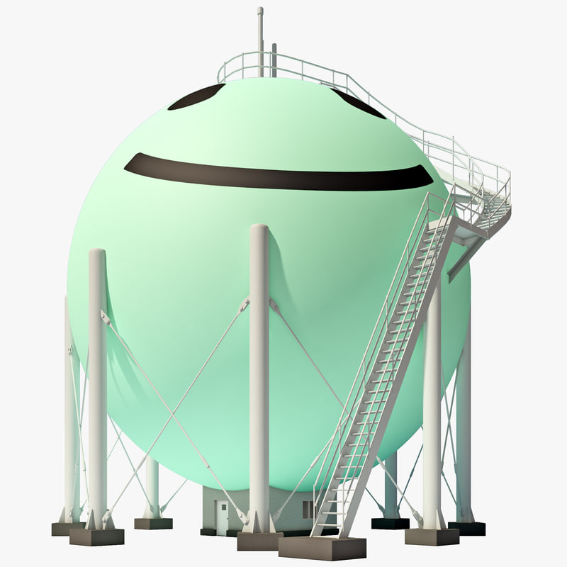 3ds max japan gas storage tank